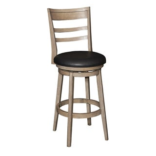 Powell Casper Black Upholstered Wood Bar Stool