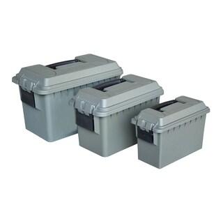 Magnum 3pc Plastic Ammo Box Set, .30 Cal, .50 Cal & Fat .50 Cal