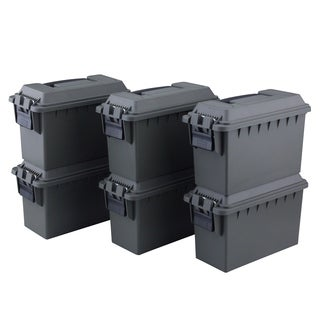 Magnum 6 Pack 30 Cal Tactical Ammo Boxes, OD Green