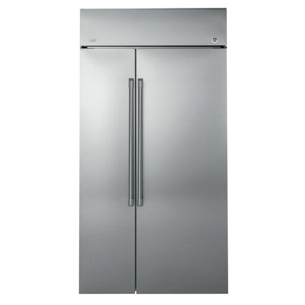 "GE Café Series 48"" Built-In Side-by-Side Refrigerator"