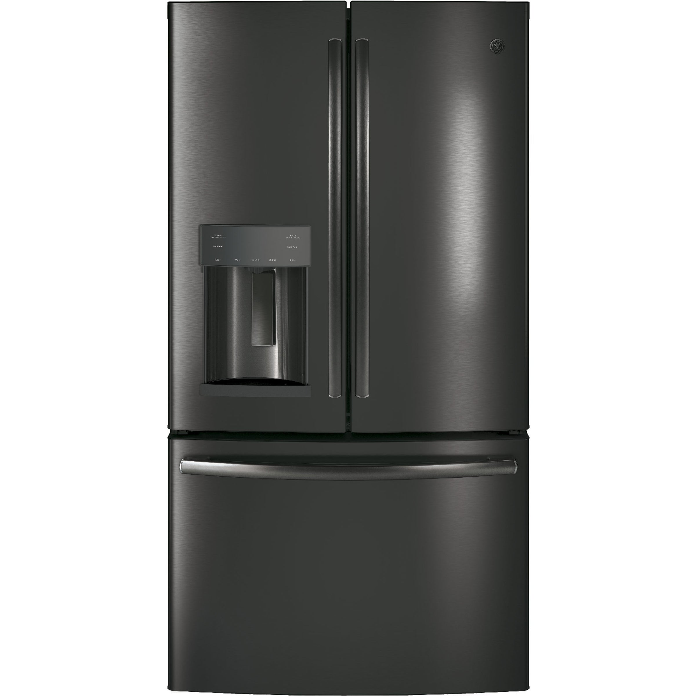 GE 27.8 Cu. Ft. Black Stainless French-Door Refrigerator with Door In Door 2 - Black - French Door