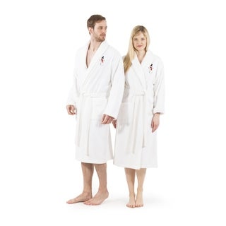 Authentic Hotel & Spa Unisex Turkish Cotton Terry Bath Robe with Snowman