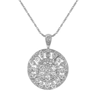 14K White Gol1.5 Carat Diamond Medallion Pendant|https://ak1.ostkcdn.com/images/products/18257960/P24394750.jpg?impolicy=medium
