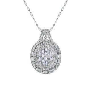 14K White Gold 1.35 Diamond Baguette Cluster Pendant|https://ak1.ostkcdn.com/images/products/18257961/P24394751.jpg?_ostk_perf_=percv&impolicy=medium