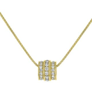 14K Yellow Gold 1.47ct TW Diamond Barrel Pendant - White|https://ak1.ostkcdn.com/images/products/18257967/P24394759.jpg?impolicy=medium