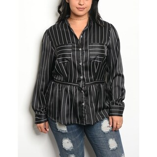 JED Women's Plus Size Long Sleeve Striped Button Down Shirt|https://ak1.ostkcdn.com/images/products/18257972/P24394761.jpg?_ostk_perf_=percv&impolicy=medium