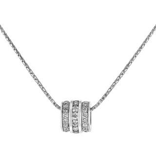 14K White Gold 1.47 ct TW Diamond Barrel Pendant