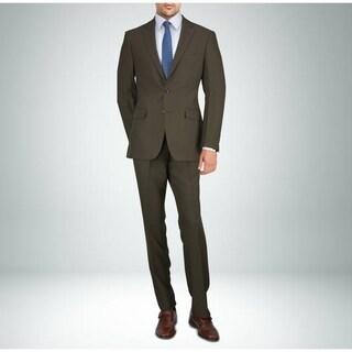 Carlo Studio Heather Brown Twill Suit