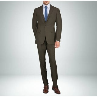 Carlo Studio Heather Brown Twill Suit