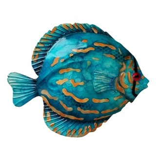 Handmade Blue Discus Fish Wall Decor (Philippines)