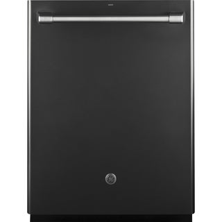 GE Café Series Stainless Interior Built-In Dishwasher with Hidden Controls In Black Slate
