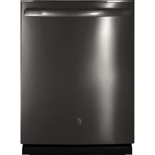 GE Profile Black Stainless Dishwasher with Hidden Controls