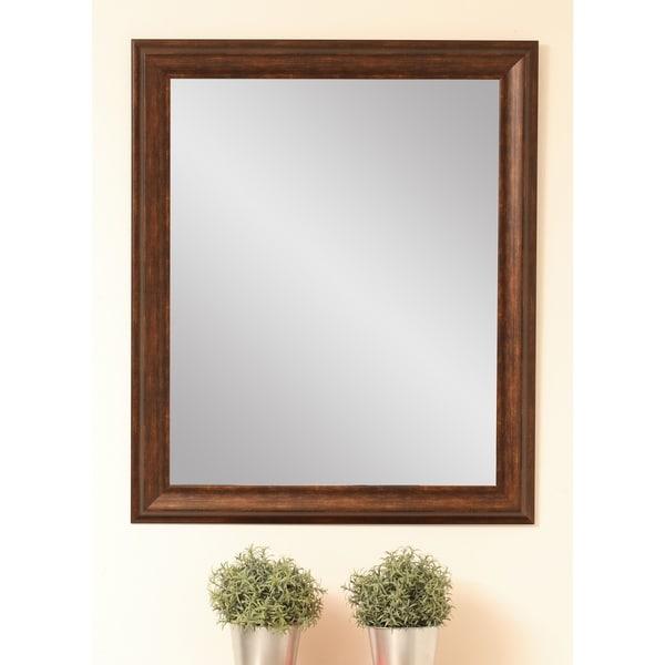 Classic Wood Grain Wall Mirror