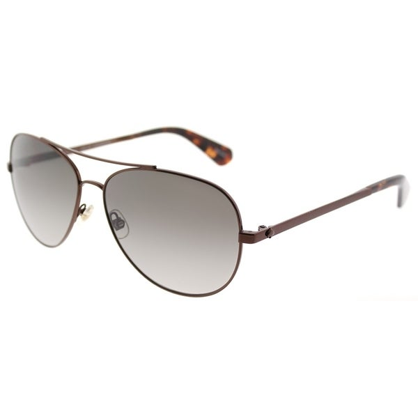 Kate Spade Aviator KS Avaline2 WR9 Womens Brown Havana Frame Brown Gradient Lens Sunglasses