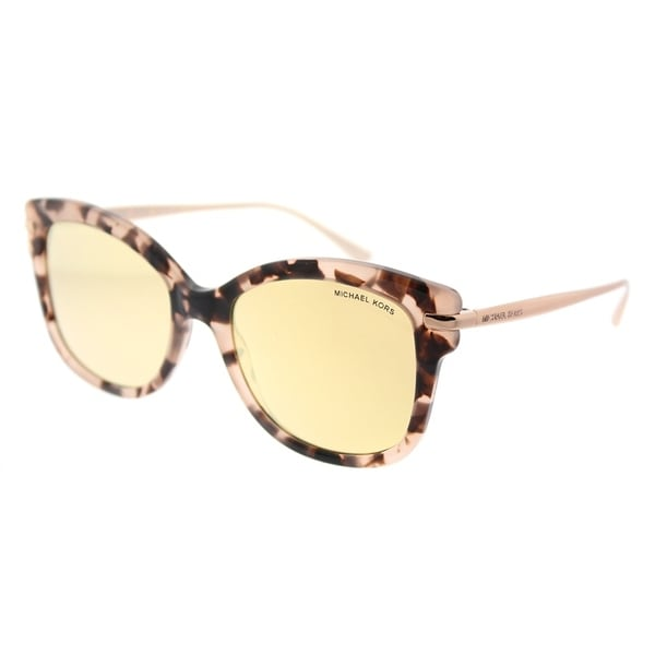 8e9ee9816d Michael Kors Square MK 2047 31627J Womens Pink Tortoise Frame Liquid Rose  Gold Mirror Lens Sunglasses