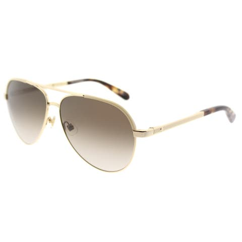 86308b358fed Kate Spade Aviator KS Amarissa 0NR Womens Gold Brown Havana Frame Brown  Gradient Lens Sunglasses