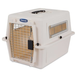 Petmate Ultra Vari Kennel, Bleached Linen & Black, Up to 15lbs