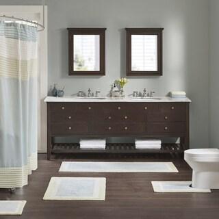 Madison Park Chester Aqua Cotton Tufted Bath Rug