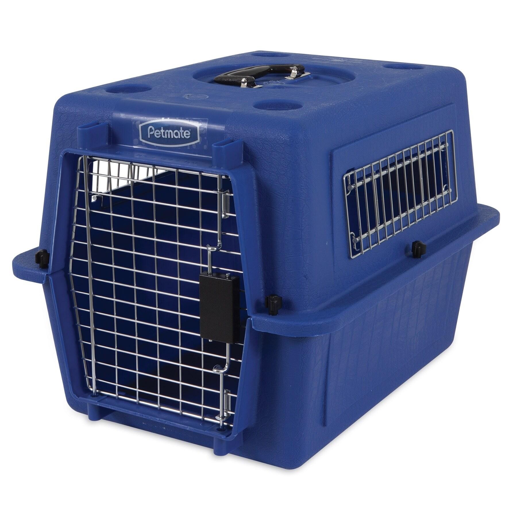Petmate Ultra Vari Kennel, True Blue, Up to 15lbs (Blue)