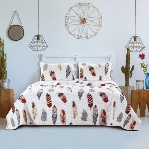Greenland Home Fashions Dream Catcher Gold 3-piece Quilt Set
