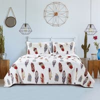 Greenland Home Fashions Dream Catcher Gold 3-piece Quilt Set