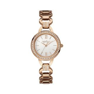 Caravelle NY Women's 44L163 Rose Goldtone Crystal Accent Bracelet Watch