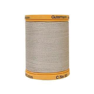 Gutermann 100% Nat Cotton Thread 800M Sandy Grey