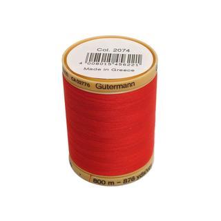 Gutermann 100% Nat Cotton Thread 800M Red