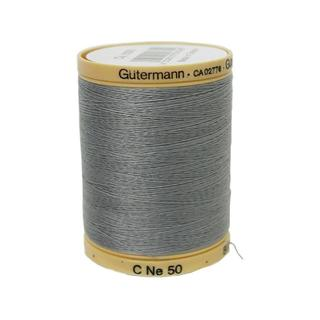 Gutermann 100% Nat Cotton Thread 800M Grey