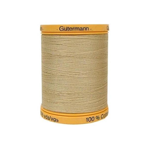 Gutermann 100% Nat Cotton Thread 800M Burlap Beige