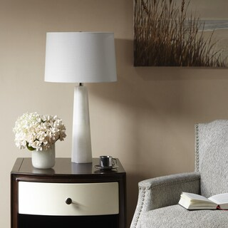 Madison Park Signature Calla White 27.5-inch Table Lamp with Cone Shaped Shade