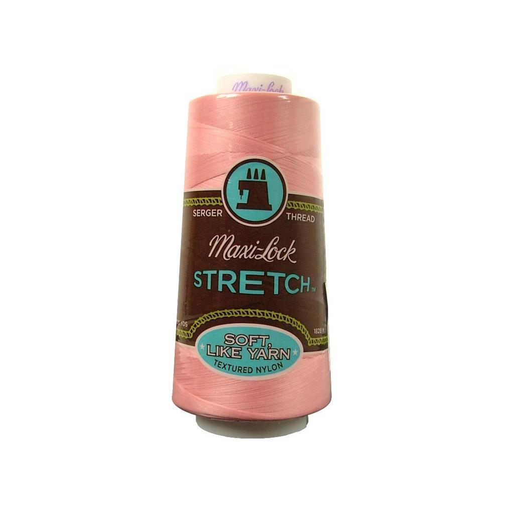American & Efird Maxi Lock Stretch Thread 2000yd Pink (Pink)