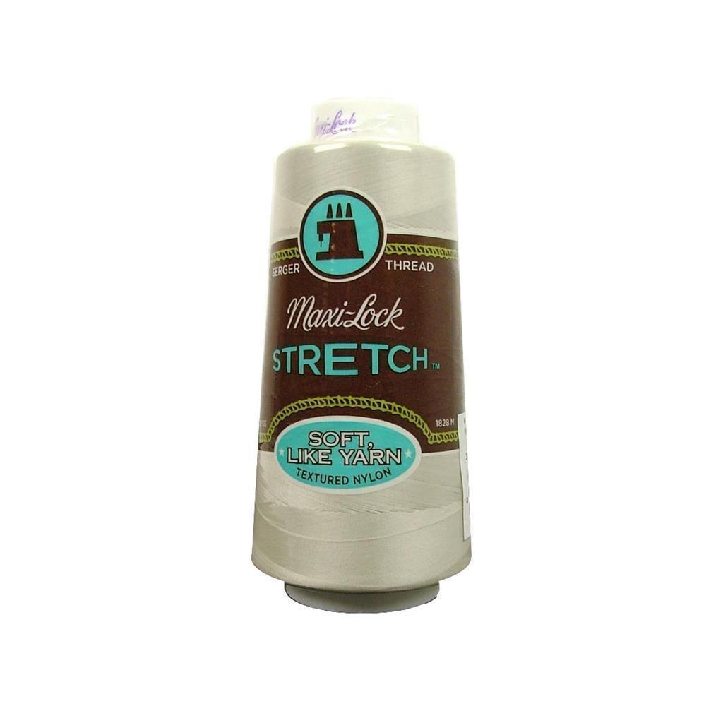 American & Efird Maxi Lock Stretch Thread 2000yd Pearl (P...