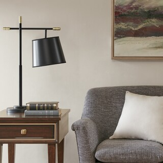 Madison Park Webster Black 28.5-inch Table Lamp with Tappered Shade