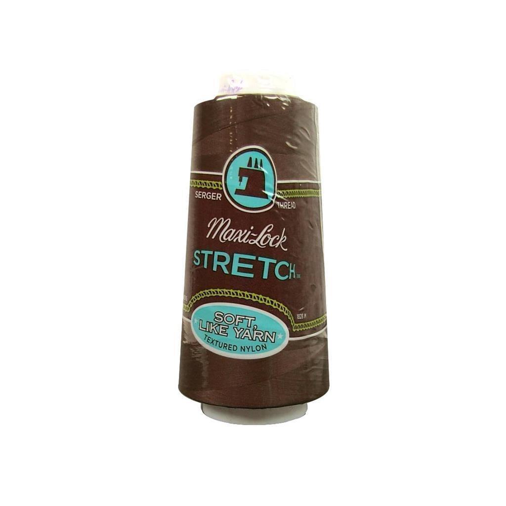 American & Efird Maxi Lock Stretch Thread 2000yd Brown (B...