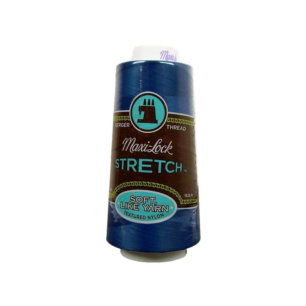 American & Efird Maxi Lock Stretch Thread 2000yd Blue (Blue)