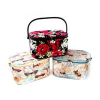 St Jane Sewing Basket Large Oval Astd
