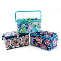 St Jane Sewing Basket Med Rectangle Astd Dark