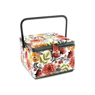 St Jane Sewing Basket Large Square Flowers