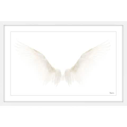 Handmade White Wings Framed Print