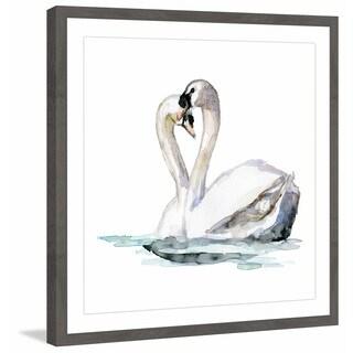 'Swan Love' Framed Painting Print