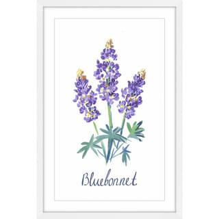 Link to Marmont Hill - Handmade Bluebonnet Framed Print Similar Items in Art Prints