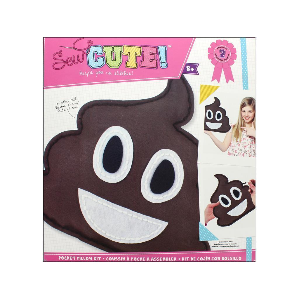 Colorbok Sew Cute Kit Pocket Pillow Emoji Poo (Sew Cute K...