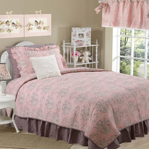 Cotton Tale Nightingale Floral Reversible Quilt Only