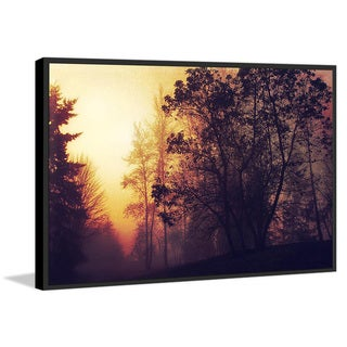Marmont Hill - Handmade Misty Sunrise Floater Framed Print on Canvas