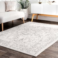 Maison Rouge Malek Vintage Distressed Ivory Floral Withered Rosette Area Rug - 8' x 10'
