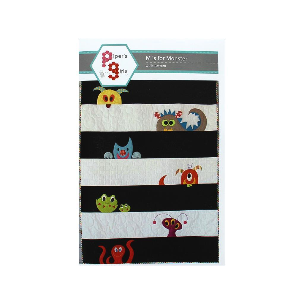 Pipers Girls M Is For Monster Pattern (M Is For Monster P...
