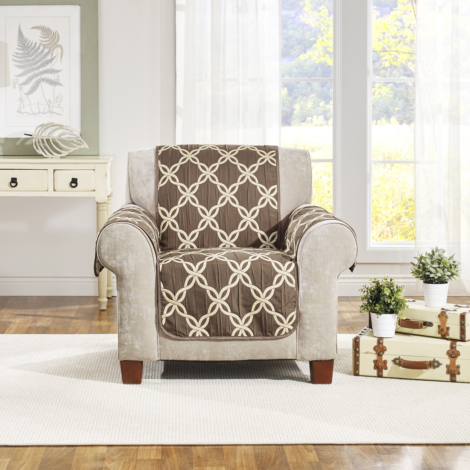 USA Belle Maison Belmont Reversible Chair Protector (Ivor...