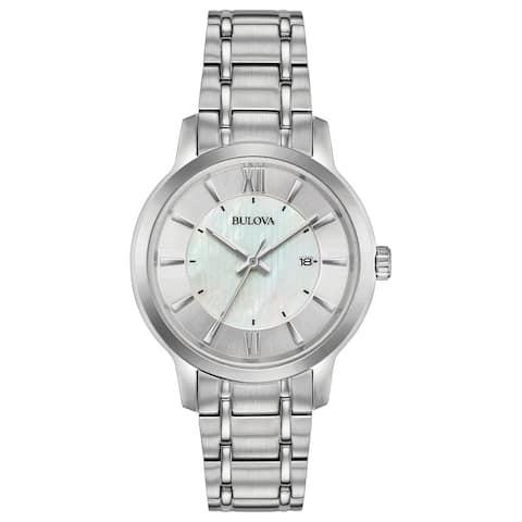 Bulova Women's 96M140 Classics Collection Stainless Bracelet Watch - Silver