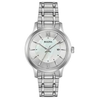 Bulova Women's 96M140 Classics Collection Stainless Bracelet Watch|https://ak1.ostkcdn.com/images/products/18259156/P24395795.jpg?impolicy=medium